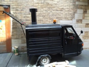 Ape Pizza Oven-Side View