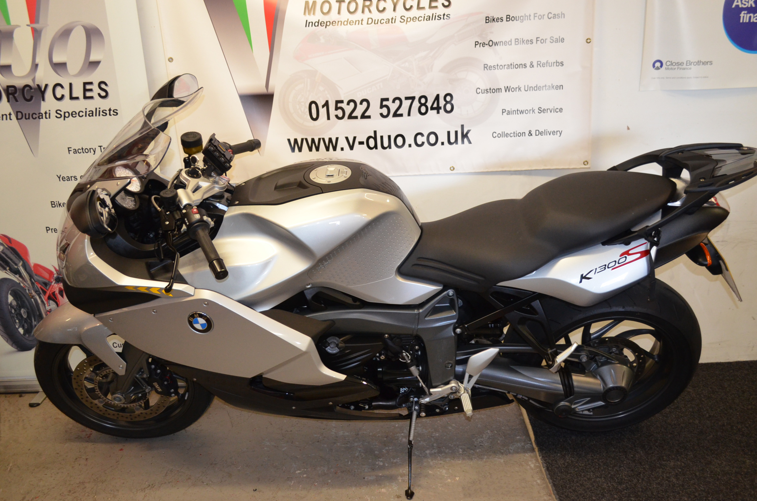 bmw k1300s 542 miles from new vduo motorcycles. Black Bedroom Furniture Sets. Home Design Ideas